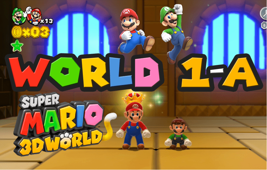 Super Mario 3D World 1-A Chargin' Chuck Blockade GamePlay