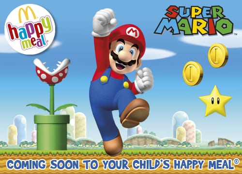 Mario is coming in your happy meal soon.