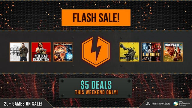 Playstation store flash sale many games available for only