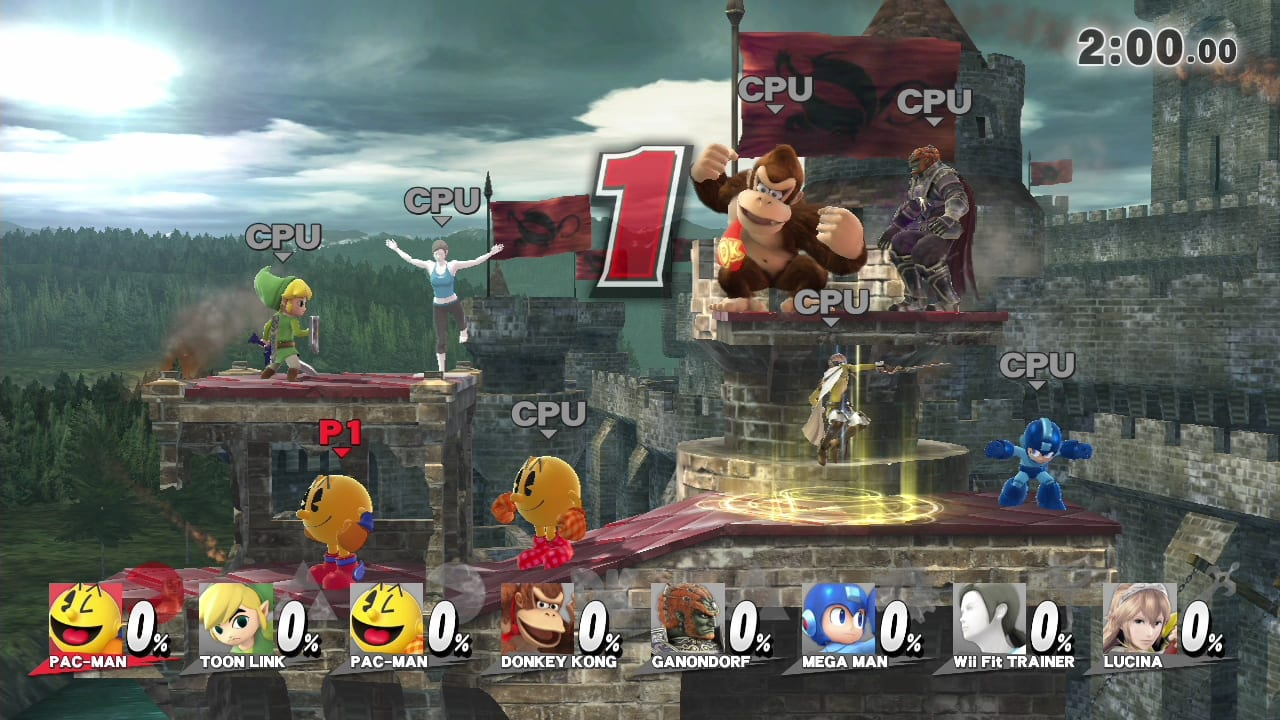 Super Smash Brothers for Wii U 8 player Smash