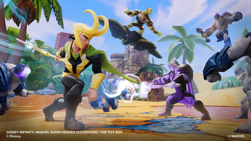 Disney infinity 2 0 adds loki falcon gameluster