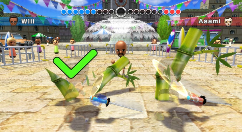 Wii Sports Resort Swordplay challenge