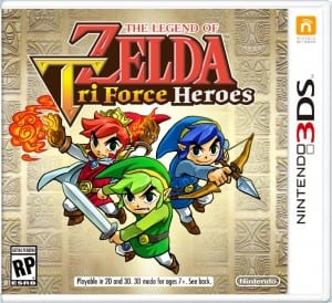 The Legend of Zelda Tri Force Heroes E3 box art