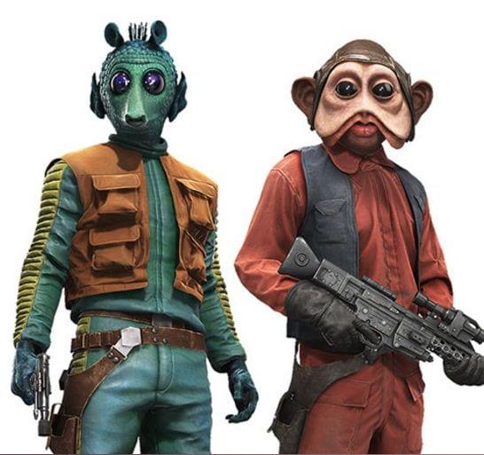 Star Wars Battlefront heroes Nien Nunb and Greedo