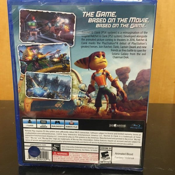 Ratchet and Clank reverse box art