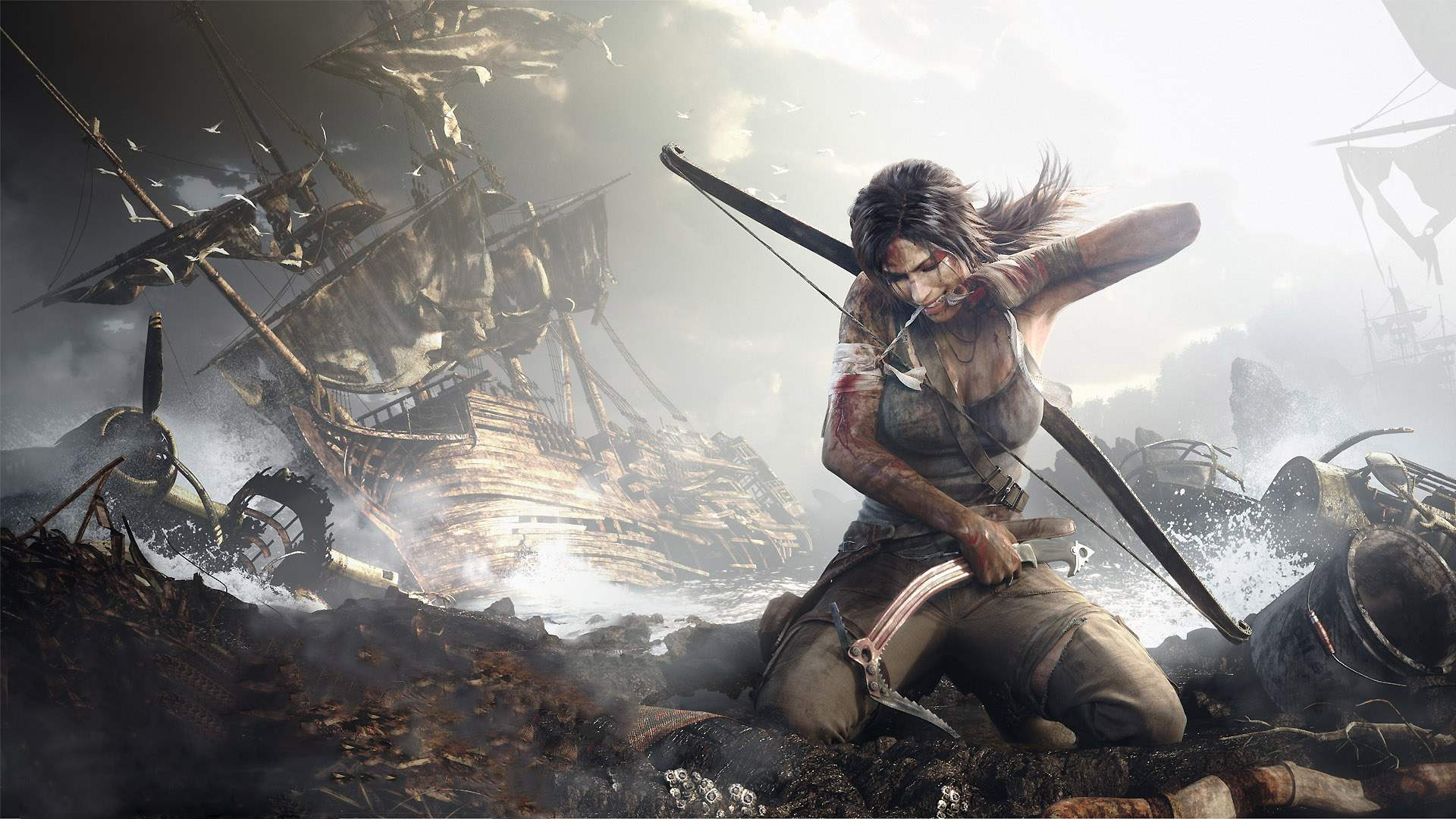 wallpapersxl-lara-croft-shipwreck-tomb-raider-hd-240838-1920x1080