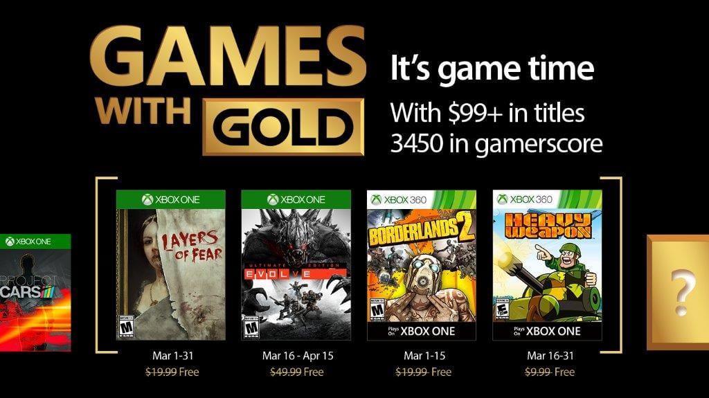 Microsoft has revealed the Games With Gold offerings for March 2017