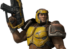 "Ranger, the classic ""Slipgate Marine"" from the original Quake, returns."