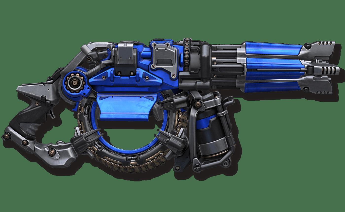 The Super Nailgun harkens to the original Quake.