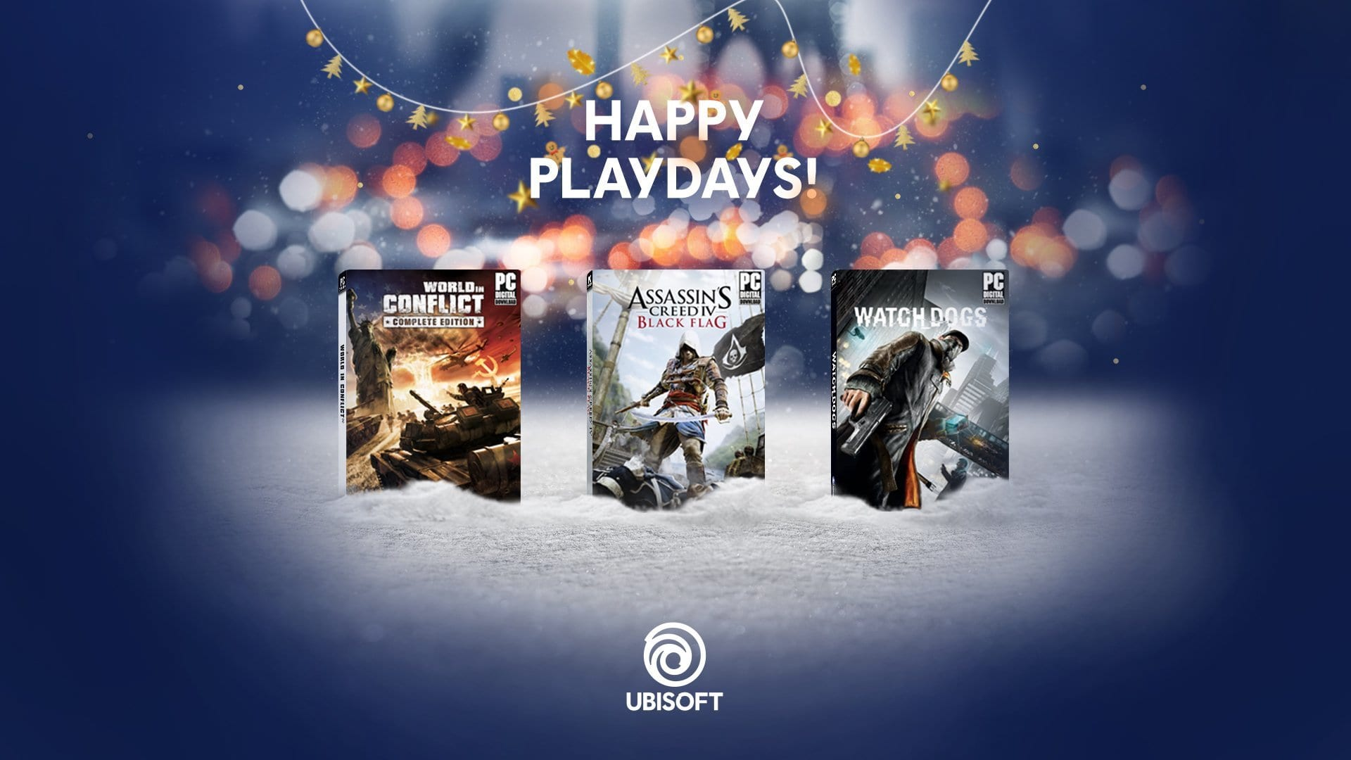 Ubisoft Releases Free PC Holiday Bundle This Week Only