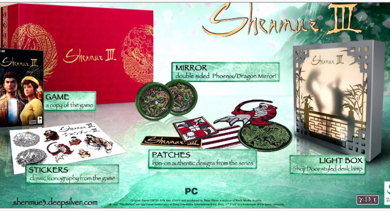 Shenmue III Collectors edition