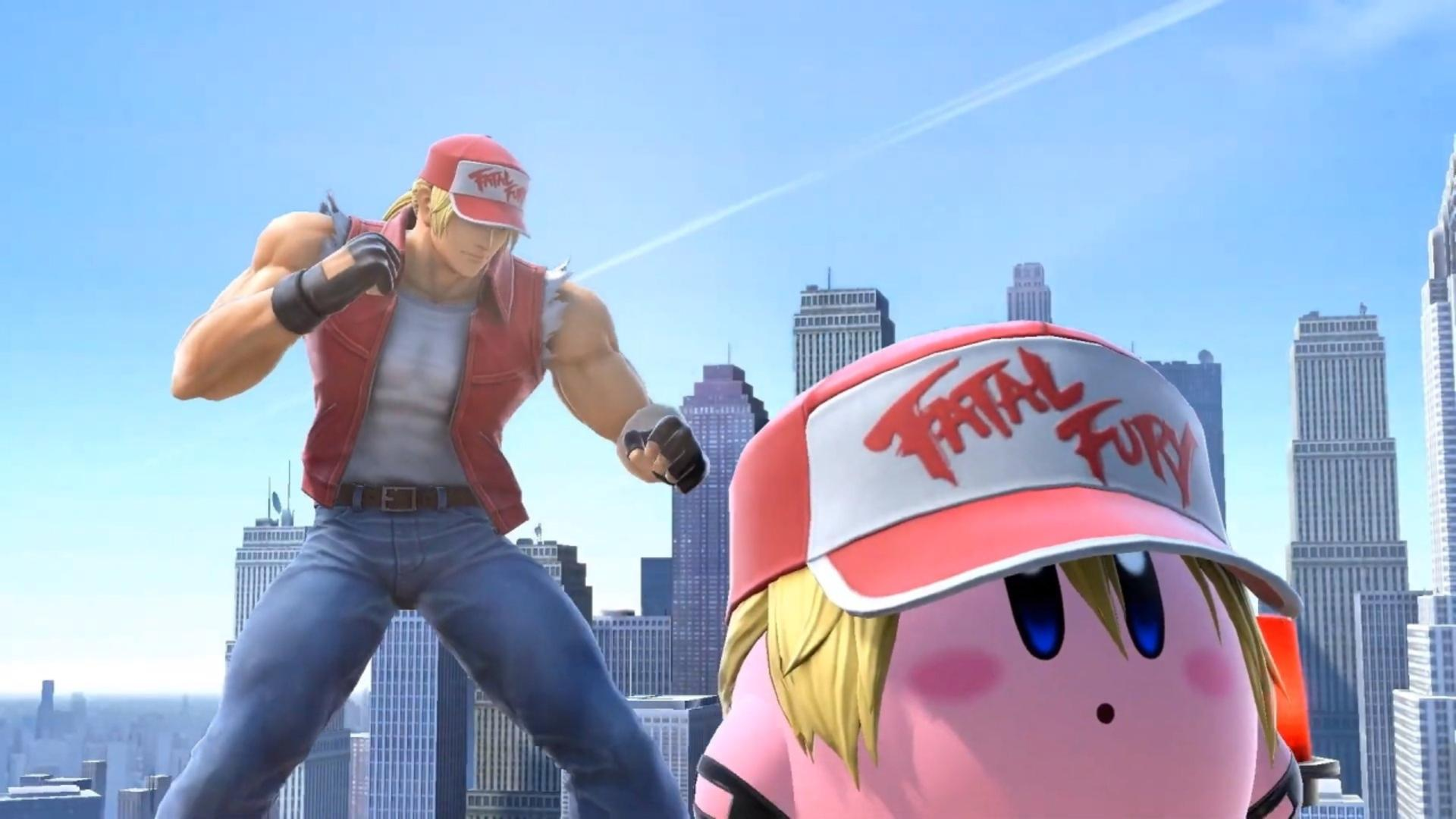 terry bogard and kirby bogard arrive in super smash bros ultimate today